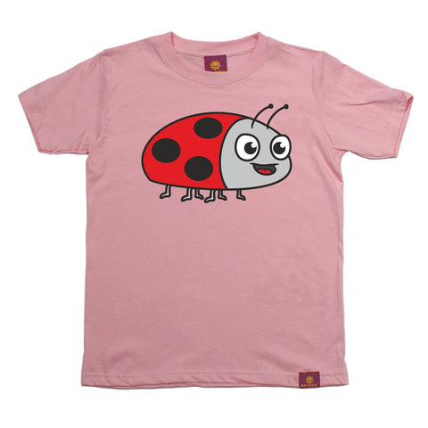 Ani-Mates Ladybird Animals Kids T-Shirt - Fun Clothes Tees Boys Girls Tops
