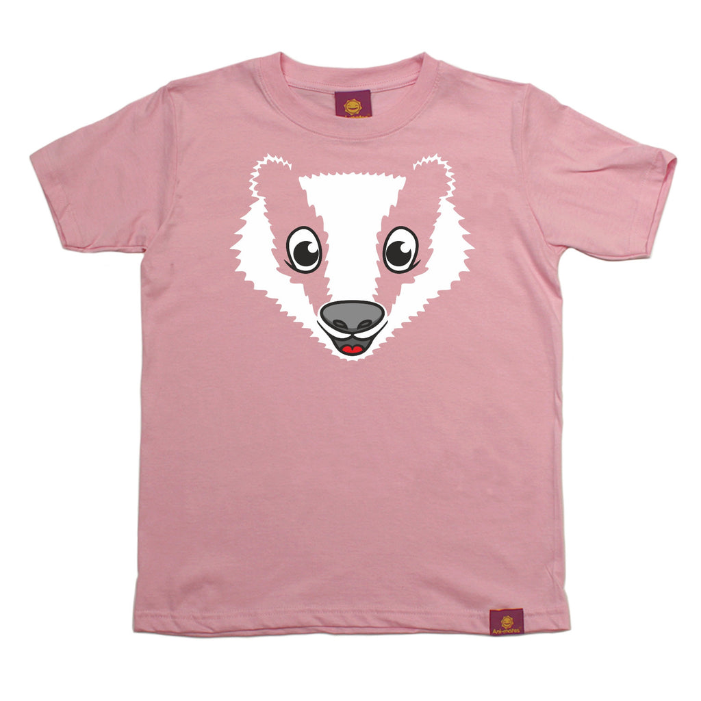25f63b0f6111f Buy Ani-Mates Badger Animals Kids T-Shirt - Fun Clothes Tees Boys Girls  Tops at 123t T-Shirts & Hoodies for only £6.99
