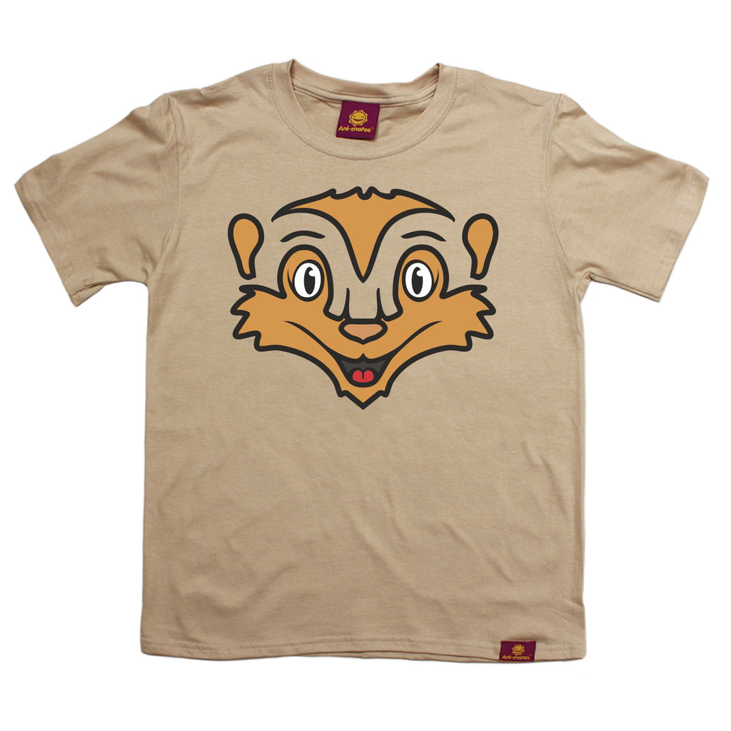 Ani-Mates Meerkat Animals Kids T-Shirt - Fun Clothes Tees Boys Girls Tops
