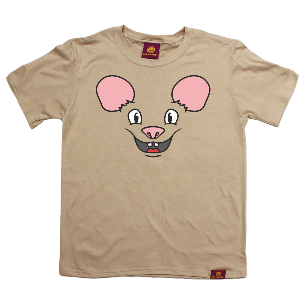 Ani-Mates Mouse Animals Kids T-Shirt - Fun Children Clothes Tees Boys Girls Tops
