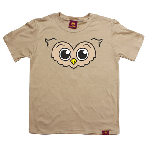 Ani-Mates Owl Animals Kids T-Shirt - Fun Children Clothes Tees Boys Girls Tops