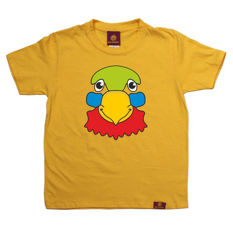 Ani-Mates Parrot Animals Kids T-Shirt - Fun Clothes Tees Boys Girls Tops