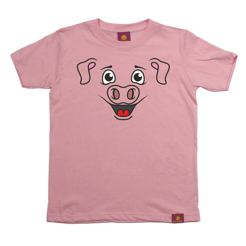 Ani-Mates Piggy Animals Kids T-Shirt - Fun Children Clothes Tees Boys Girls Tops