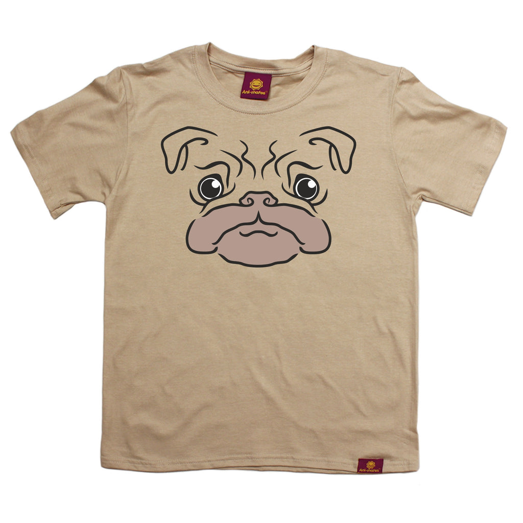 Ani-Mates Pug Animals Kids T-Shirt - Fun Children Clothes Tees Boys Girls Tops