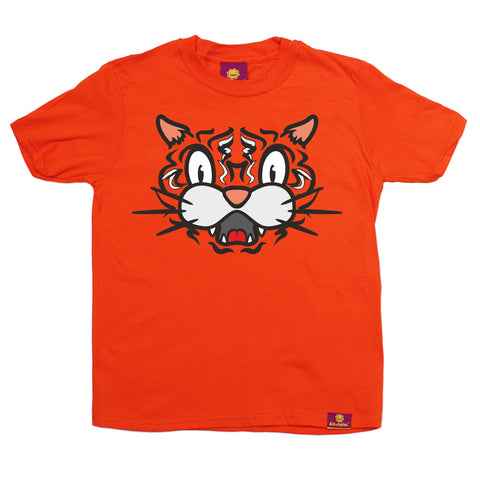 Ani-Mates Tiger Animals Kids T-Shirt - Fun Children Clothes Tees Boys Girls Tops