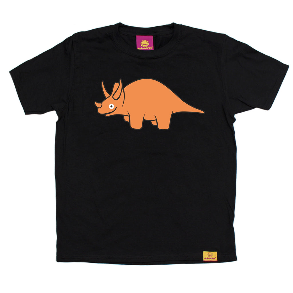 Ani-Mates Triceratops Dinosaur Kids T-Shirt - Fun Clothes Tees Boys Girls Tops