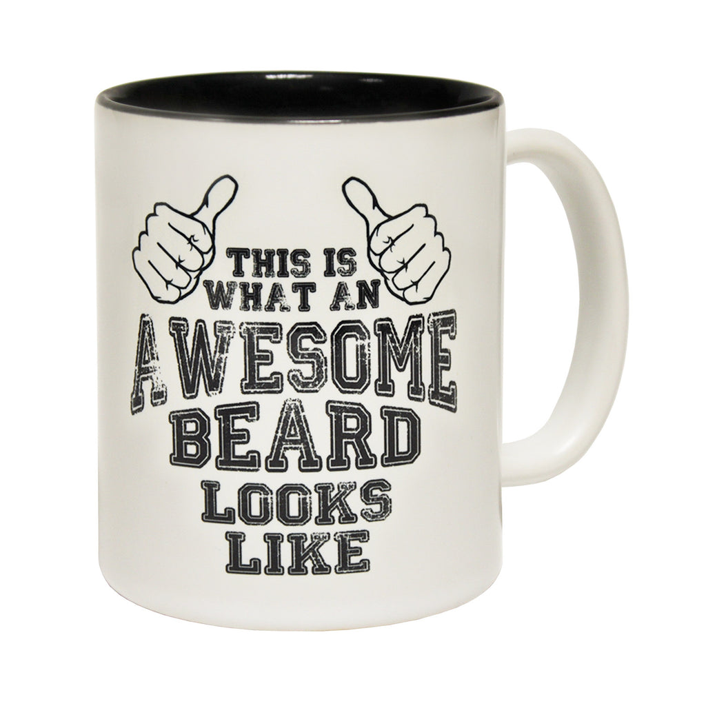123t This Is What An Awesome Beard Looks Like Funny Mug