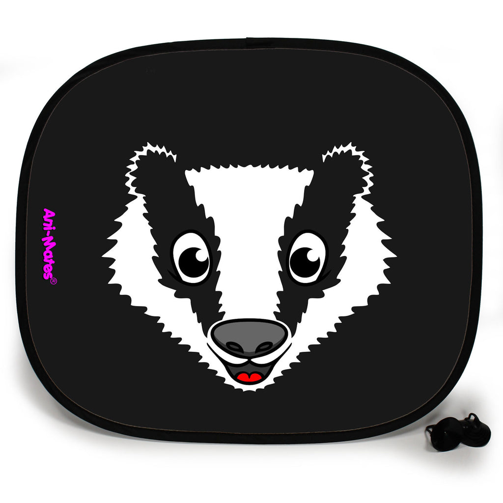 Ani-Mates Animals Badger Personalised UV Protection Fun Vehicle Interior Window Car Sunshade