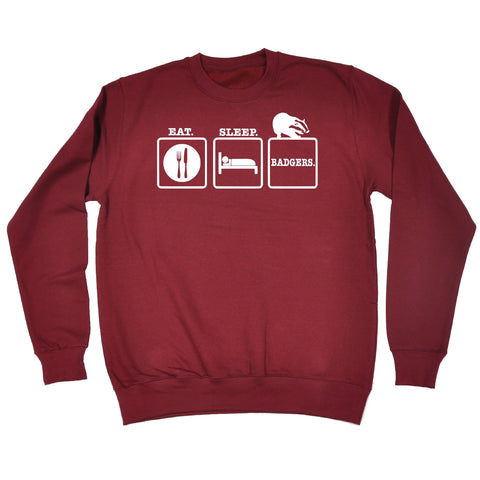 123t Eat Sleep Badgers Funny Sweatshirt