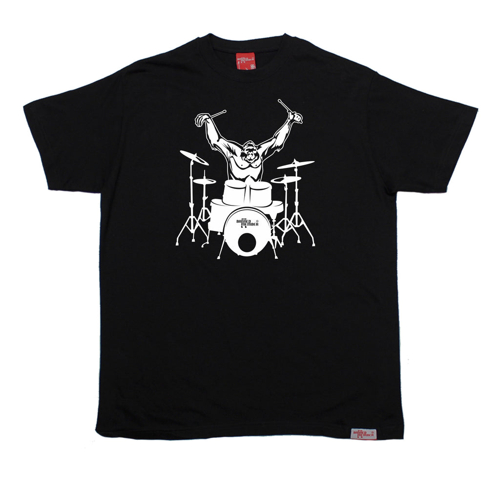 Banned Member Men's Gorilla Drummer Drumming T-Shirt