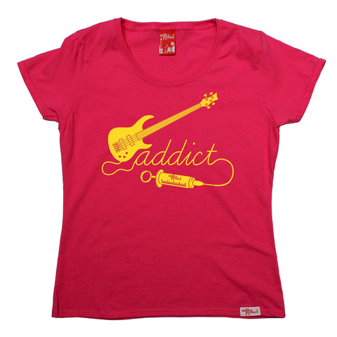 Banned Member Women's Bass Addict Guitarist T-Shirt