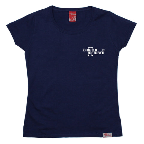 Banned Member Women's Pocket Design Music T-Shirt