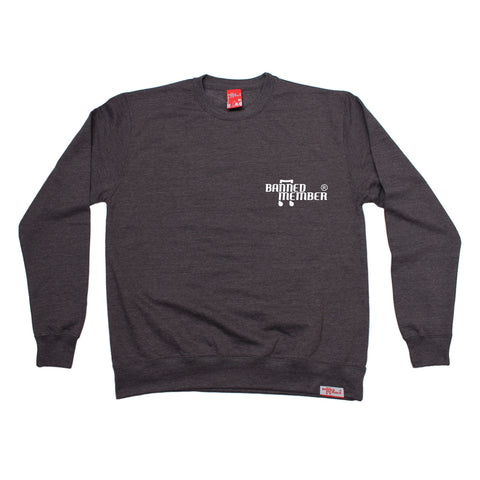 Banned Member Pocket Design Music Sweatshirt