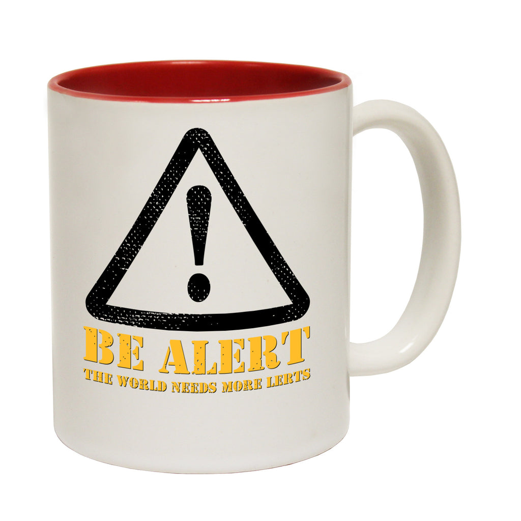 123t Be Alert The World Needs More Lerts Funny Mug