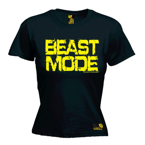 SWPS Women's Beast Mode Sex Weights And Protein Shakes Gym T-Shirt