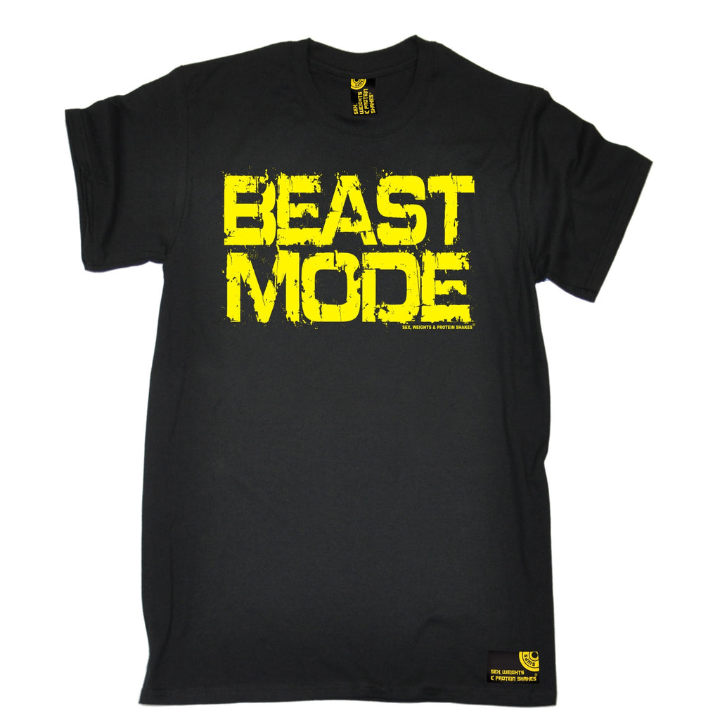 Sex Weights and Protein Shakes Men's Beast Mode Sex Weights And Protein Shakes Gym T-Shirt