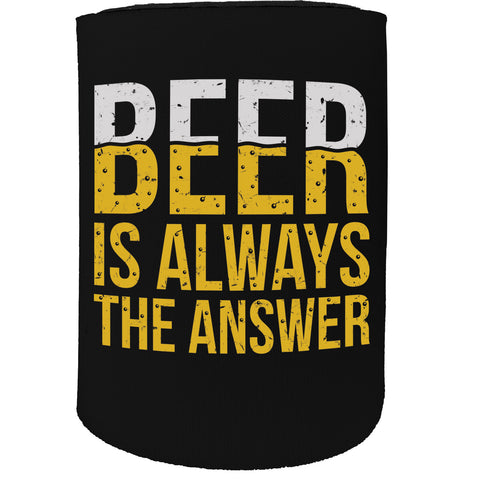123t Stubby Holder - Beer Answer - Funny Novelty Birthday Gift Joke Beer Can Bottle Coolie Koozie