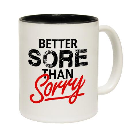 Personal Best Better Sore Than Sorry Funny Running Mug