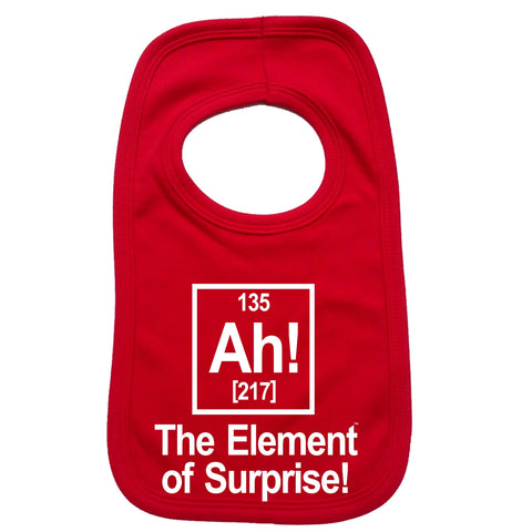123t Baby Ah The Element Of Surprise Funny Baby Bib - 123t clothing gifts presents