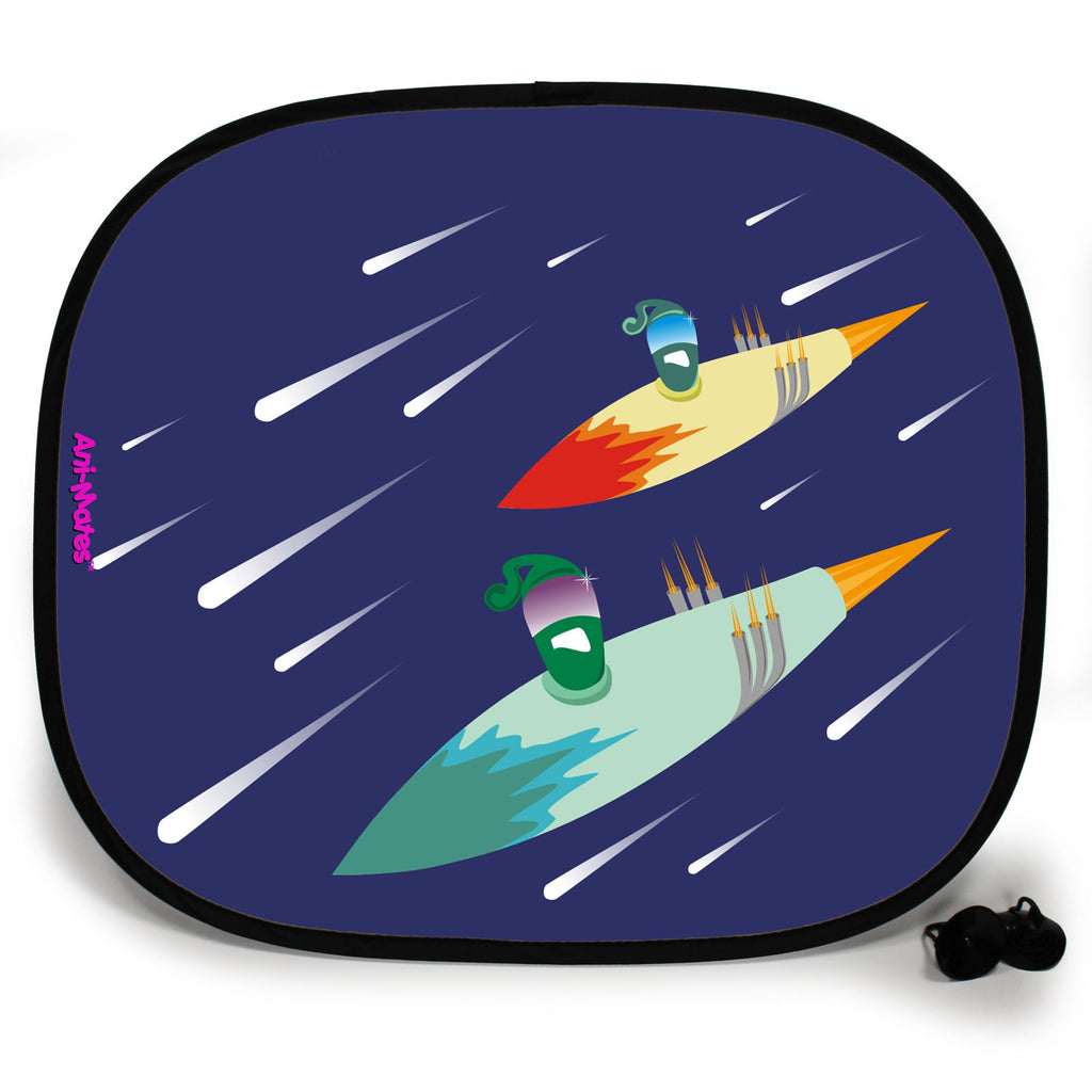 Ani-Mates Outta This World Drag Race Personalised UV Protection Fun Vehicle Interior Window Car Sunshade