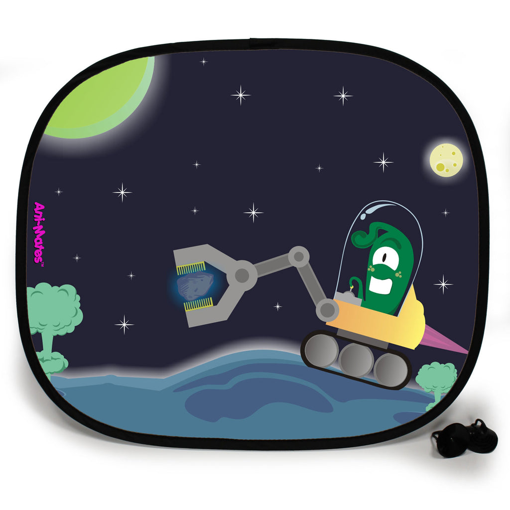 Ani-Mates Outta This World Alien Miner Personalised UV Protection Fun Vehicle Interior Window Car Sunshade