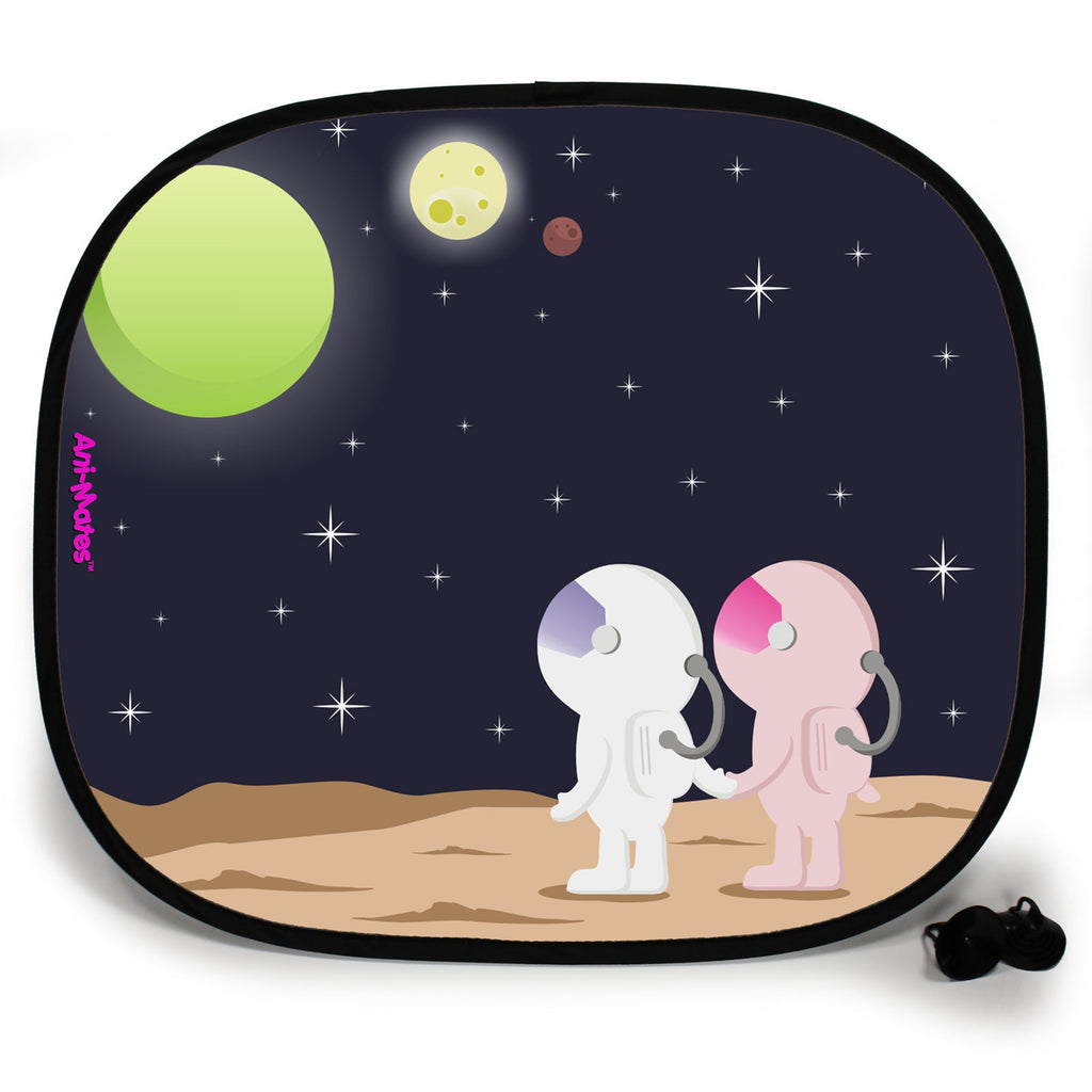Ani-Mates Outta This World Star Gazing Personalised UV Protection Fun Vehicle Interior Window Car Sunshade