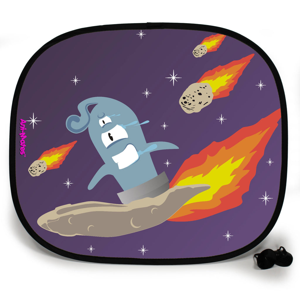Ani-Mates Outta This World Surfer Personalised UV Protection Fun Vehicle Interior Window Car Sunshade