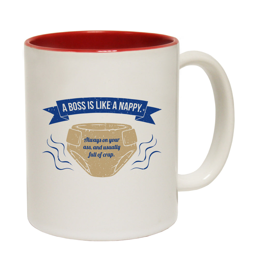 123t A Boss Is Like A Nappy ... Full Of Crap Funny Mug - 123t clothing gifts presents