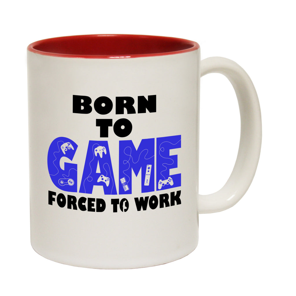 123t Born To Game Forced To Work ... Video Games Funny Mug
