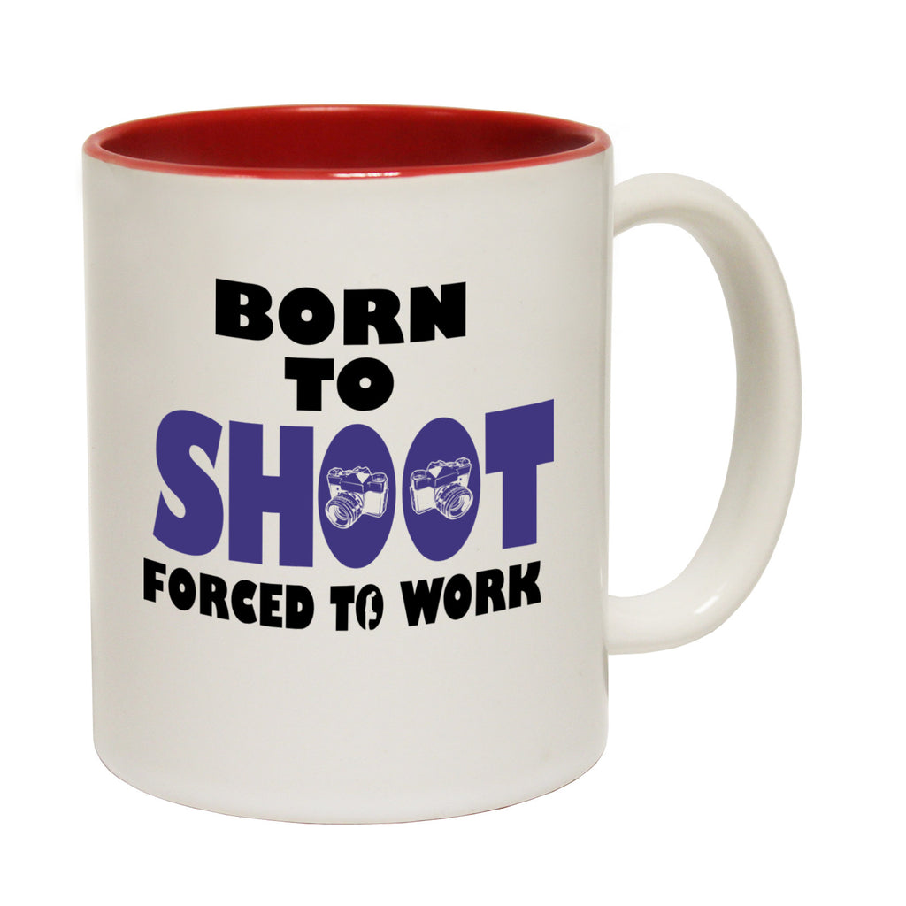123t Born To Shoot Forced To Work ... Camera Funny Mug