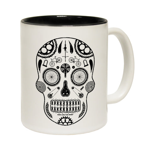 Ride Like The Wind Cycling Skull Ride Like The Wind Funny Mug