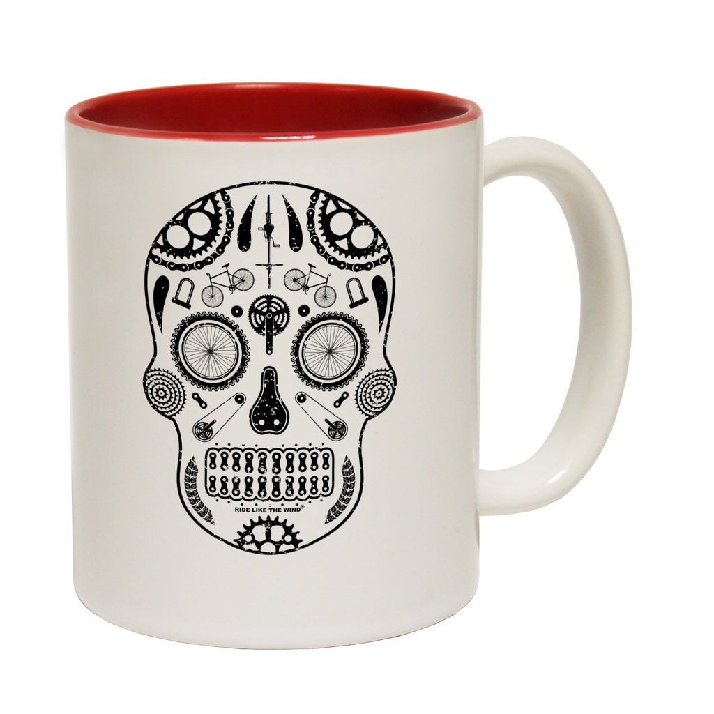 Ride Like The Wind Candy Skull Funny Cycling Mug