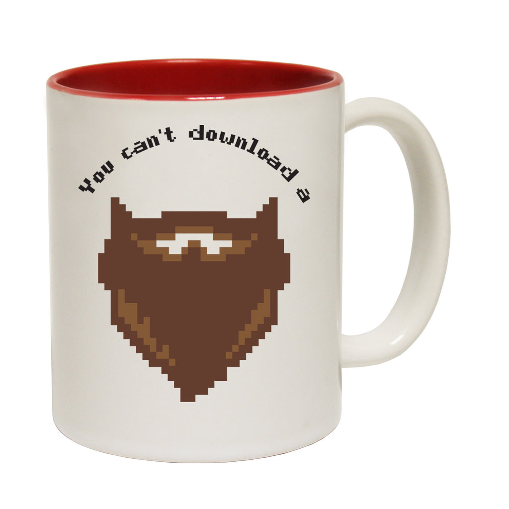 123t You Can't Download A Beard Funny Mug