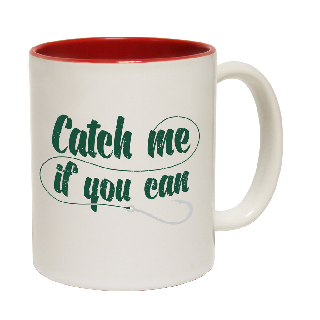 Drowning Worms Catch Me If You Can Funny Fishing Mug