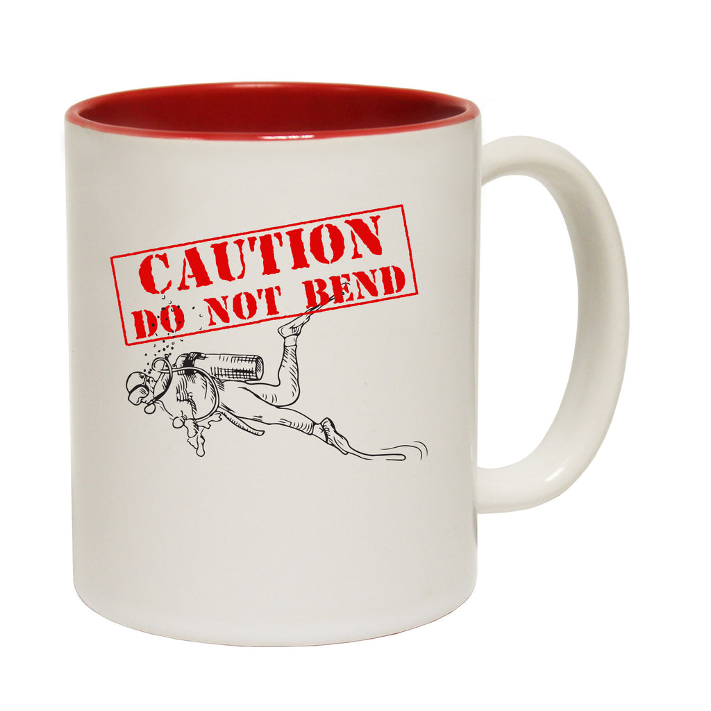 Open Water Caution Do Not Bend Funny Scuba Diving Mug
