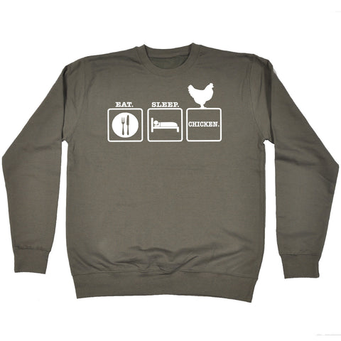 123t Eat Sleep Chicken Funny Sweatshirt, 123t
