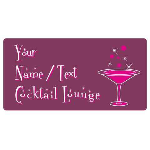 123t Your Name / Text Cocktail Lounge Personalised Funny Custom Bar Runner