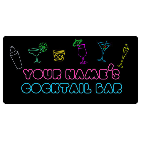 123t Your Name Cocktail Bar Personalised Funny Custom Bar Runner