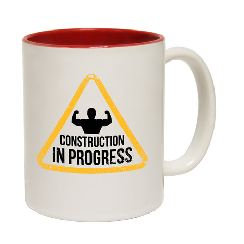 SWPS Construction in Progress Funny Gym Mug