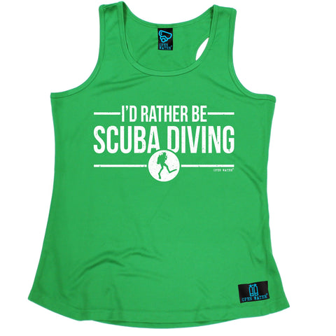 Open Water I'd Rather be Scuba Diving Girlie Training Vest