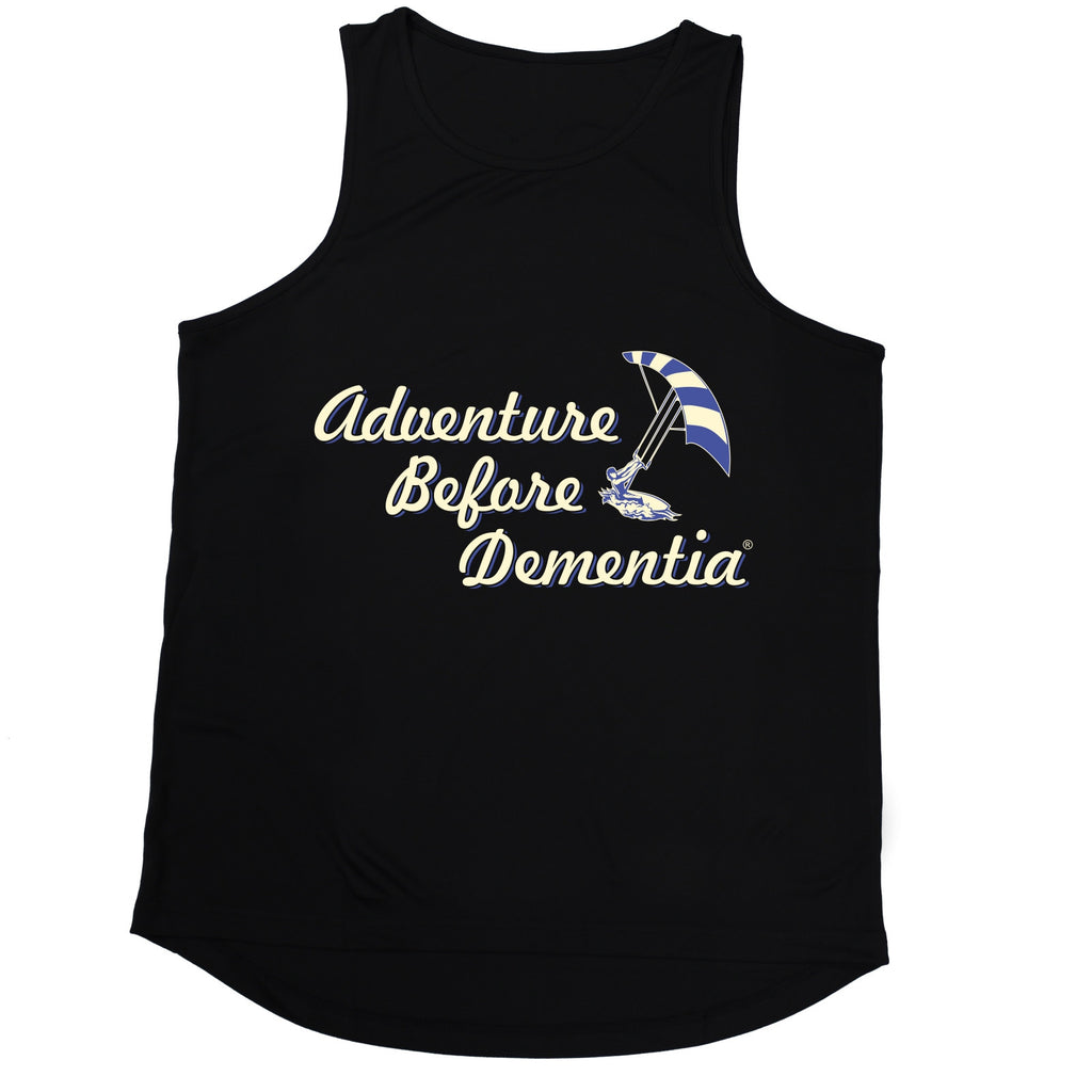 123t Adventure Before Dementia Kitesurf Graphic Design Funny Men's Training Vest - 123t clothing gifts presents
