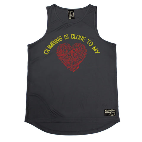 Adrenaline Addict Climbing Is Close To My Heart Rock Climbing Men's Training Vest