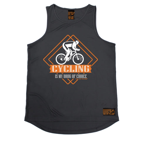 Ride Like The Wind Cycling Is My Drug Of Choice Men's Training Vest