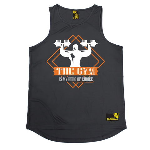 SWPS The Gym Is My Drug Of Choice Sex Weights And Protein Shakes Men's Training Vest