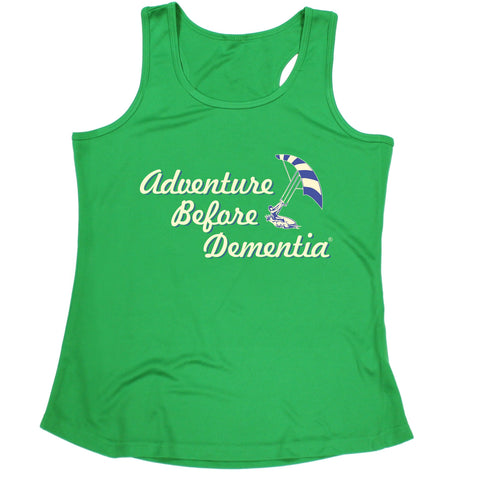 123t Adventure Before Dementia Kitesurf Graphic Design Funny Girlie Training Vest - 123t clothing gifts presents