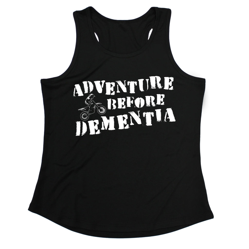 123t Adventure Before Dementia Dirt Bike Funny Girlie Training Vest - 123t clothing gifts presents