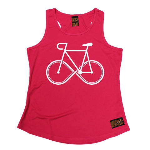 Ride Like The Wind Infinity Bike Design Cycling Girlie Training Vest