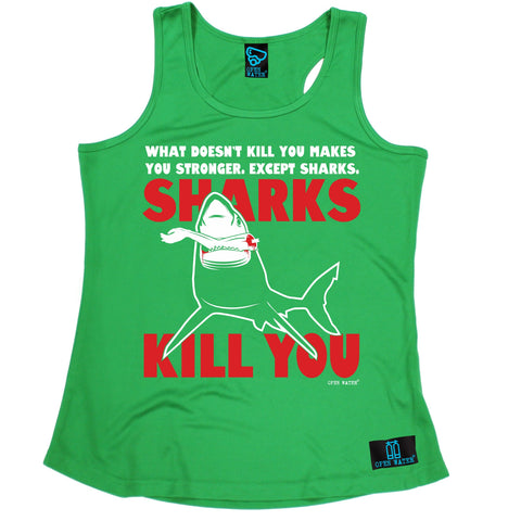 Open Water What Doesn't Kill You Makes You Stronger Scuba Diving Girlie Training Vest