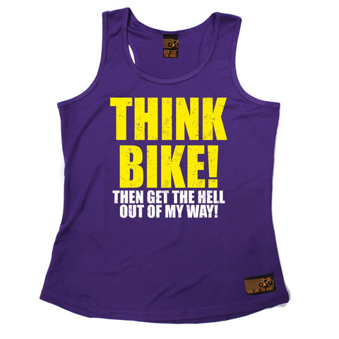 Ride Like The Wind Think Bike ... Out Of My Way Cycling Girlie Training Vest