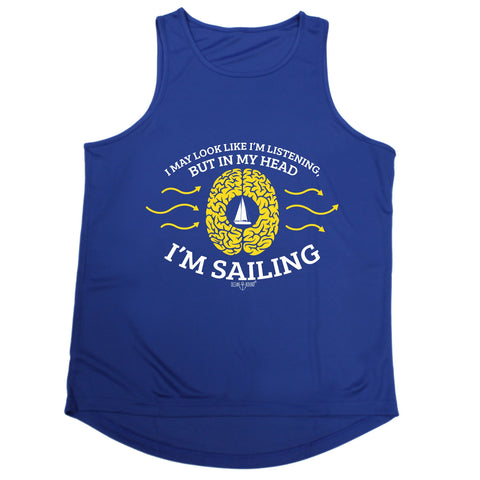 Ocean Bound I May Look Like I'm Listening In My Head I'm Sailing Men's Training Vest